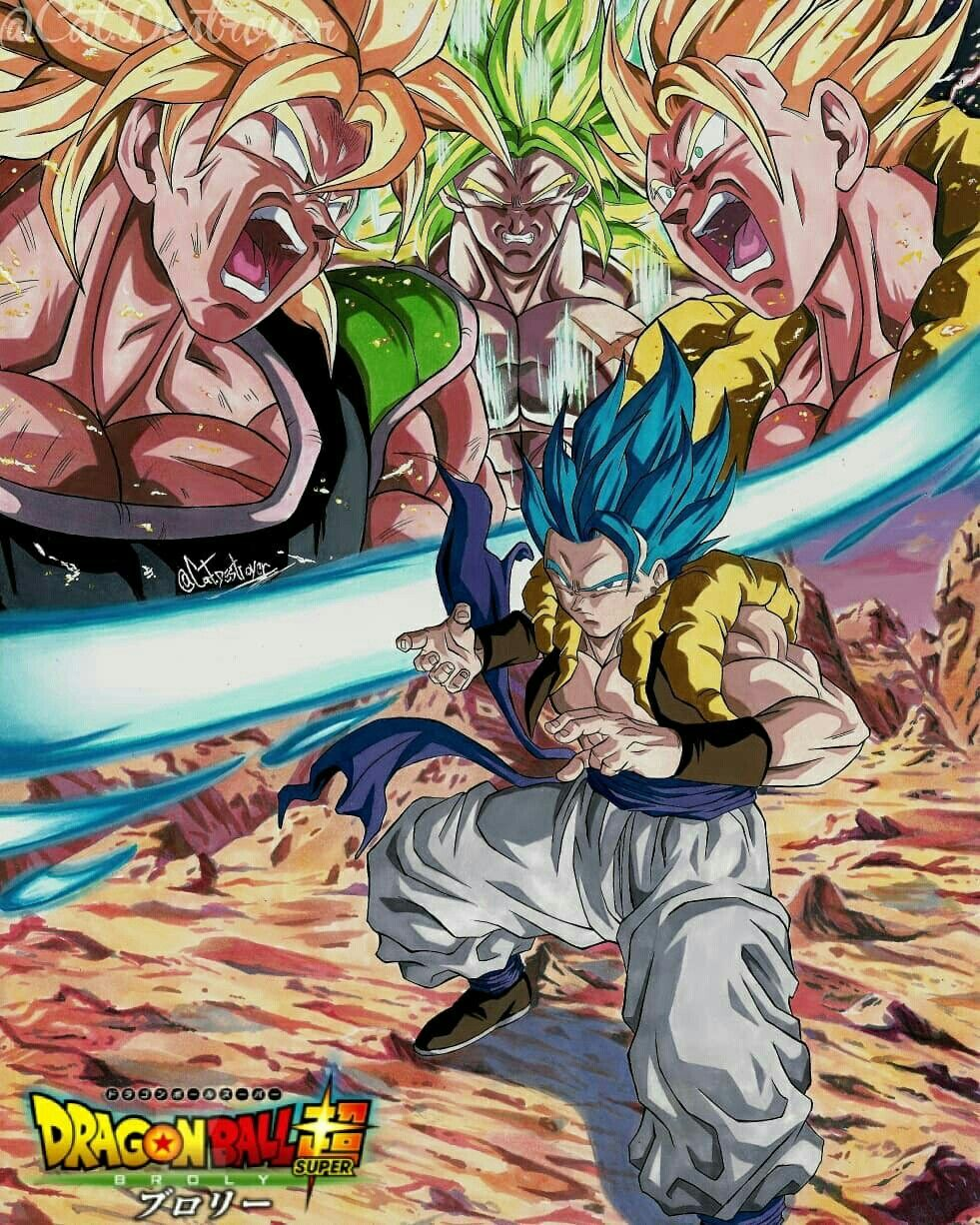 Gogita Vs Broly Draw By Cat Destroyer Broly Dragon Ball