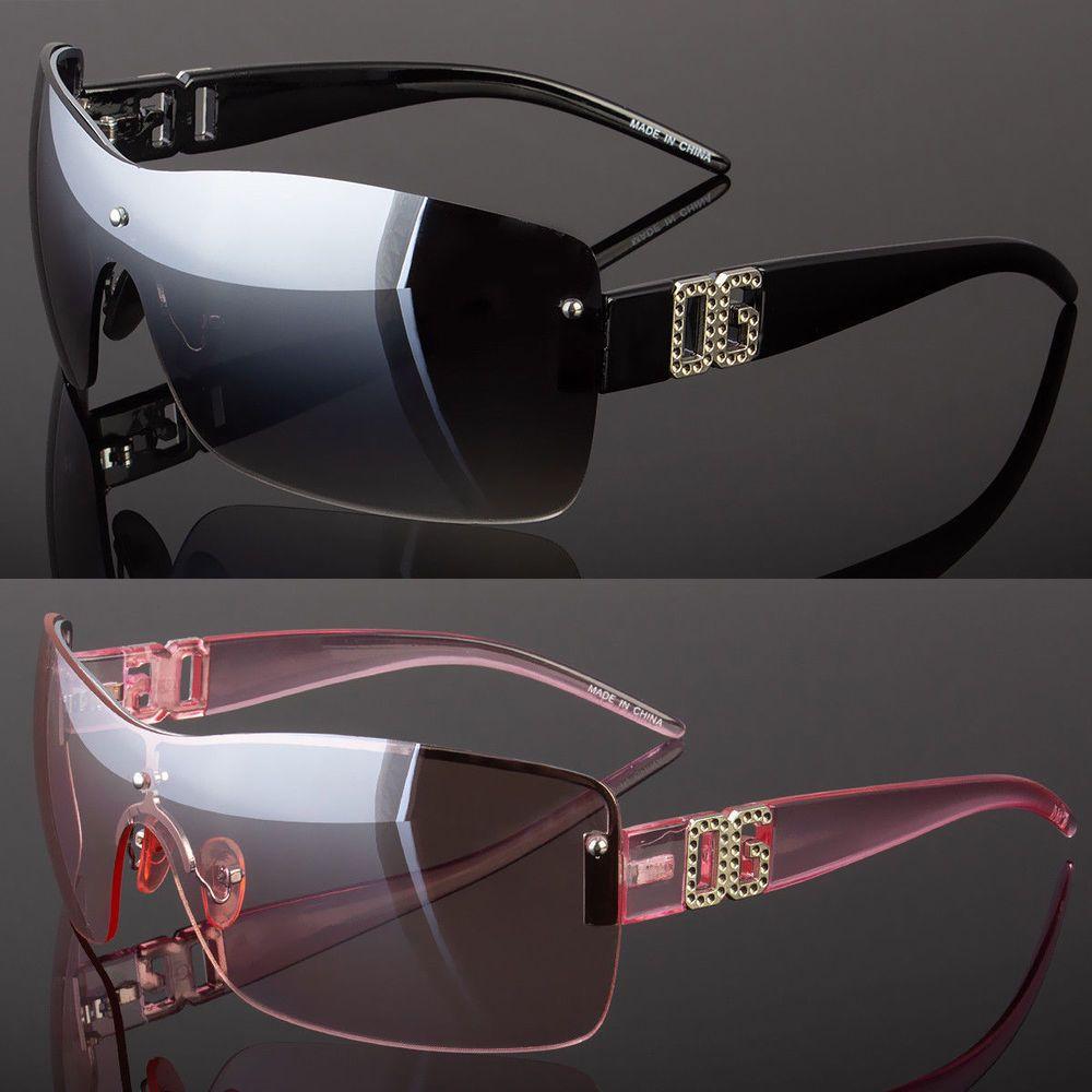cdba2adaed5 DG Eyewear Womens Large Oversized Shield Wrap Sunglasses Designer Fashion  Shades   6.99 End Date  Sunday Oct-14-2018 17 53 32 PDT Buy It…
