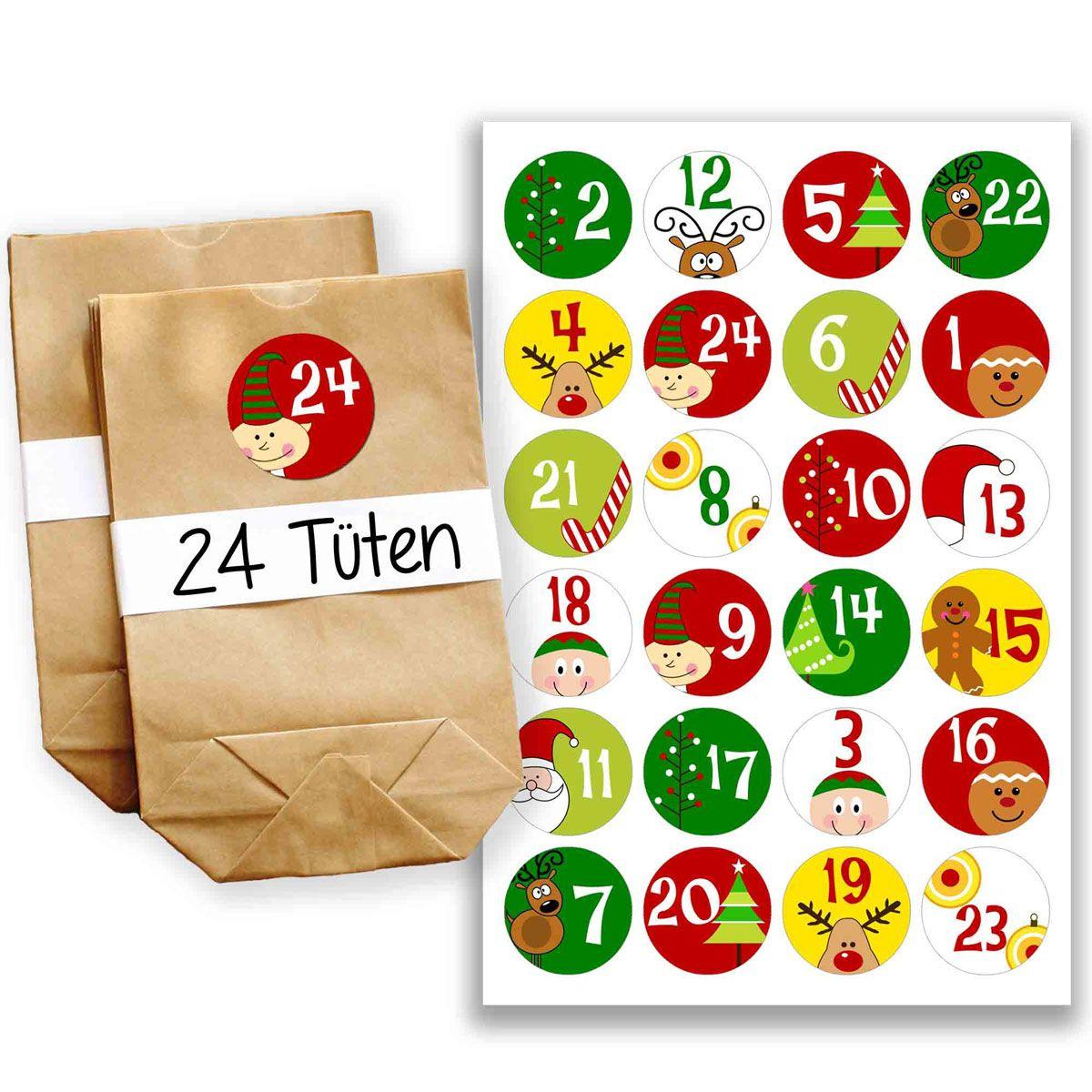 adventskalender t tenset design nr 1 diy adventskalender mit papiert ten und aufkleberzahlen. Black Bedroom Furniture Sets. Home Design Ideas