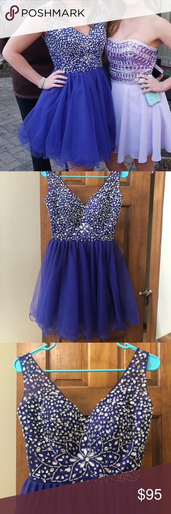 Homecoming prom dress beaded dark purple silver my posh picks