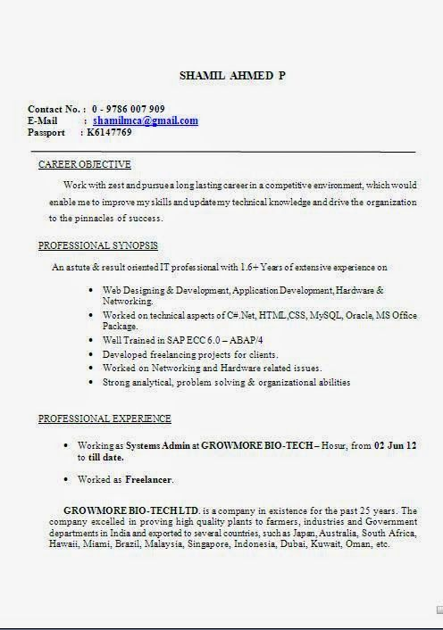 curriculum vitae pdf format download Sample Template Example - Job Resume Format Download
