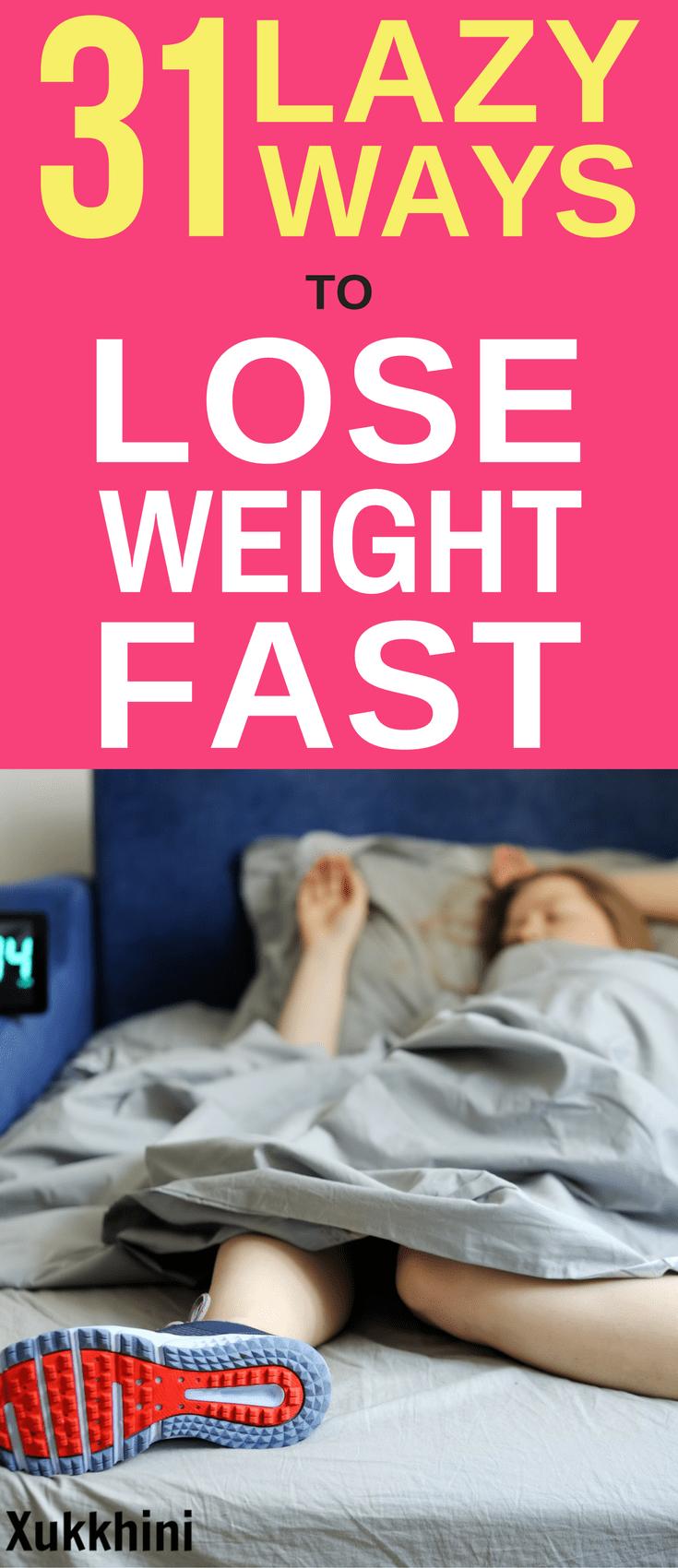 31 Lazy Ways to Lose Weight Fast | Operation Kill Fatty