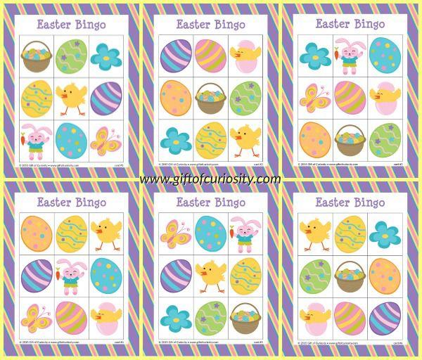 Easter bingo game free printable easter bingo bingo games and easter bingo game free printable gift of curiosity negle Images