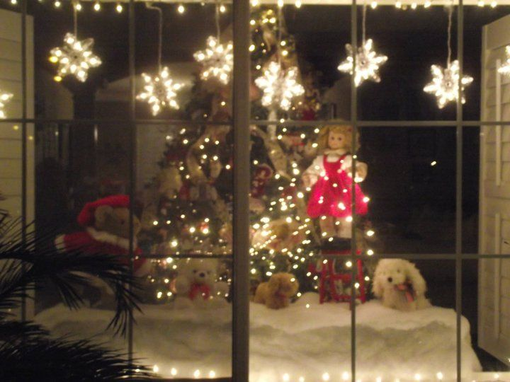 Peeking in our Christmas window...