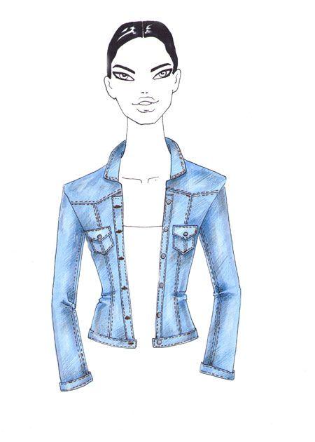 How to draw denim   Drawing   Denim jacket fashion ...