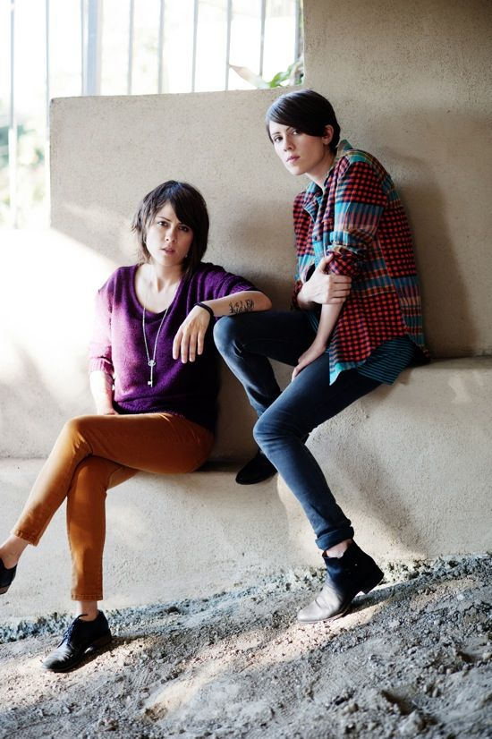 Tegan and Sara Quin by Lindsey Byrnes (Her photography of T+S Paramore is awesome)
