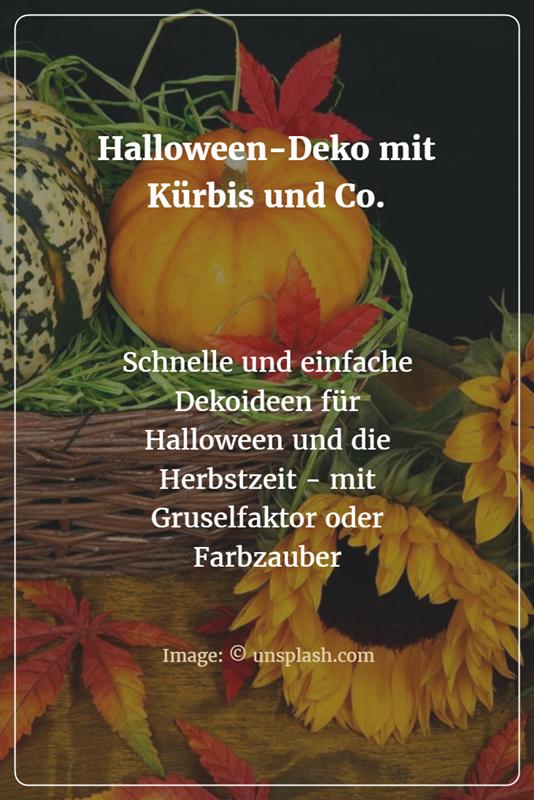 Halloween deko mit k rbis co feste und feiern herbst - Dekoideen kommunion ...