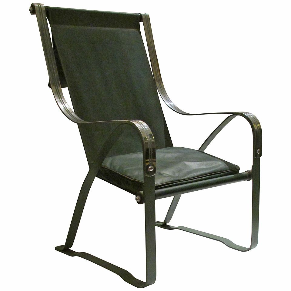 Industrial Machine Age McKay Craft Sling Chair