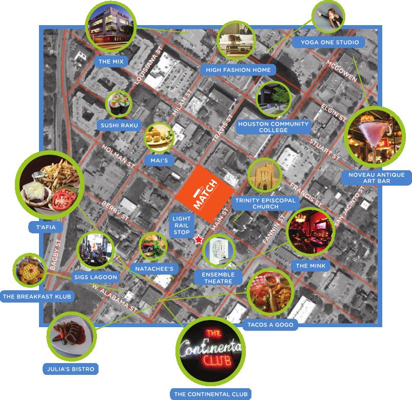 Midtown promo map Midtown Houston Texas Pinterest