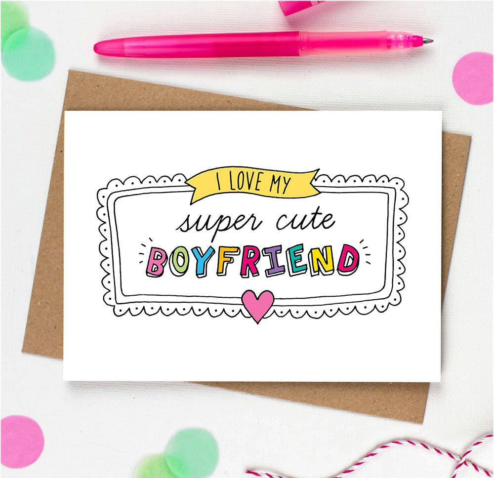 super cute boyfriend card Design 2019 (With images