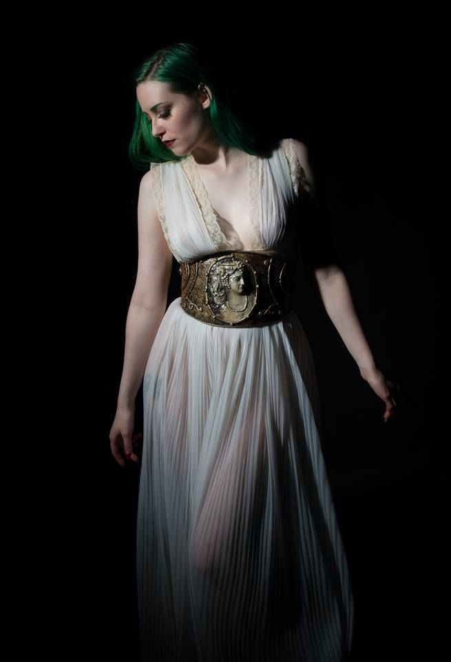 New line of #cincher belts features our original #cameos. For sale at OrganicArmor.com photo Tempus Fugit Design, model Tristin Vitriol