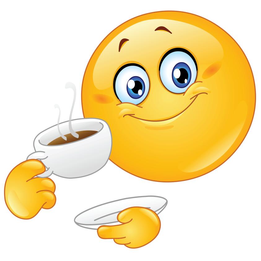 Coffee Smiley  Emojis  Smiley bilder Lustiger smiley