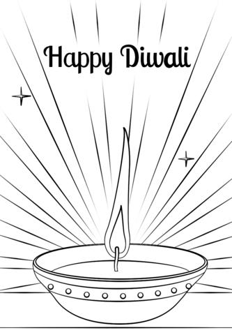 Diwali Diya Coloring Page Diwali Diya Diwali Coloring Pages