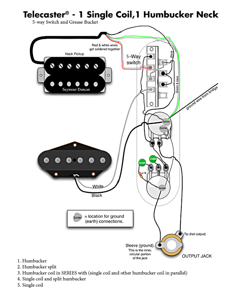 Wiring Diagram For Telecaster Guitar Pickups Telecaster Fender Telecaster