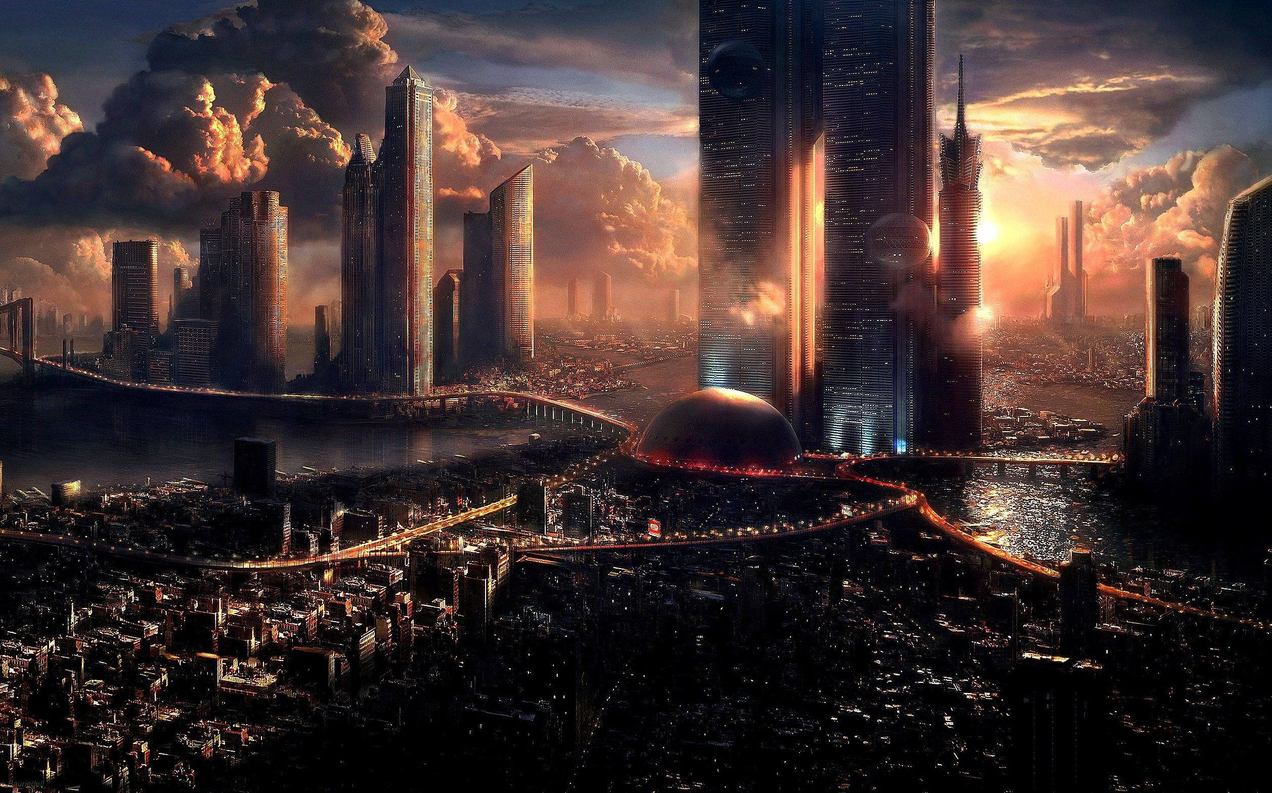 Building And City Futuristic Desktop HD Wallpaper Future Share