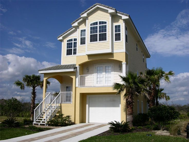 Beach house plan 041h 0003 3 story house coastal paige for Narrow 3 story house plans