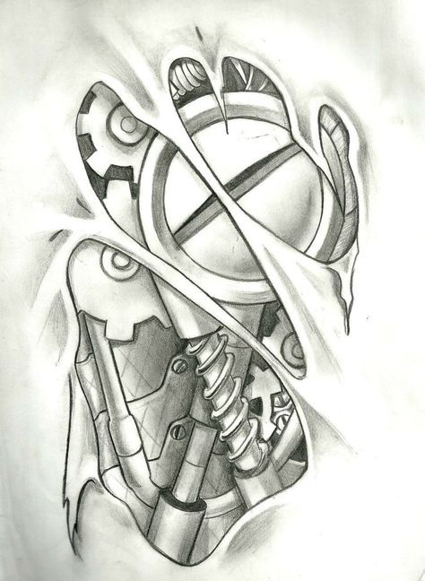 Mechanical Tattoo Layout In Photoshop 9 Hours Of Work Mechanic