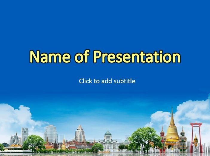 Thailand presentation template powerpoint templates pinterest ppt template toneelgroepblik Image collections