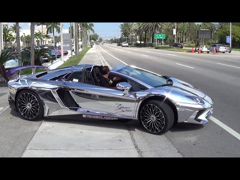 Superbe Lamborghini Aventador SV Accelerating From Lamborghini Miami TeamSalamone  Ready For BullFest 2017