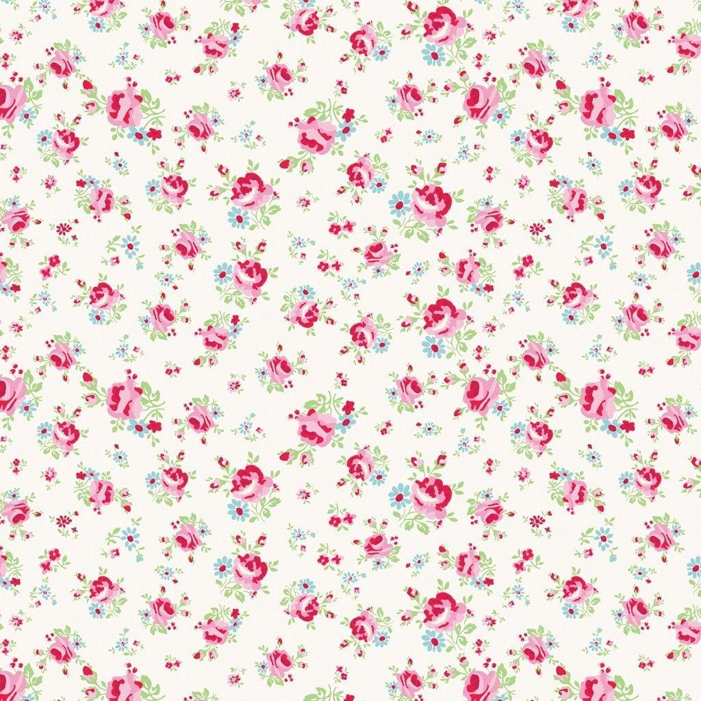 5 Sheets Of Pink La Petite Rose Wrapping Paper Vintage Paper Printable Paper Floral Floral Design Wallpaper
