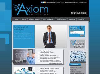 Axiom Solutions Custom Website Design Custom Website Design Professional Graphic Design Website Design