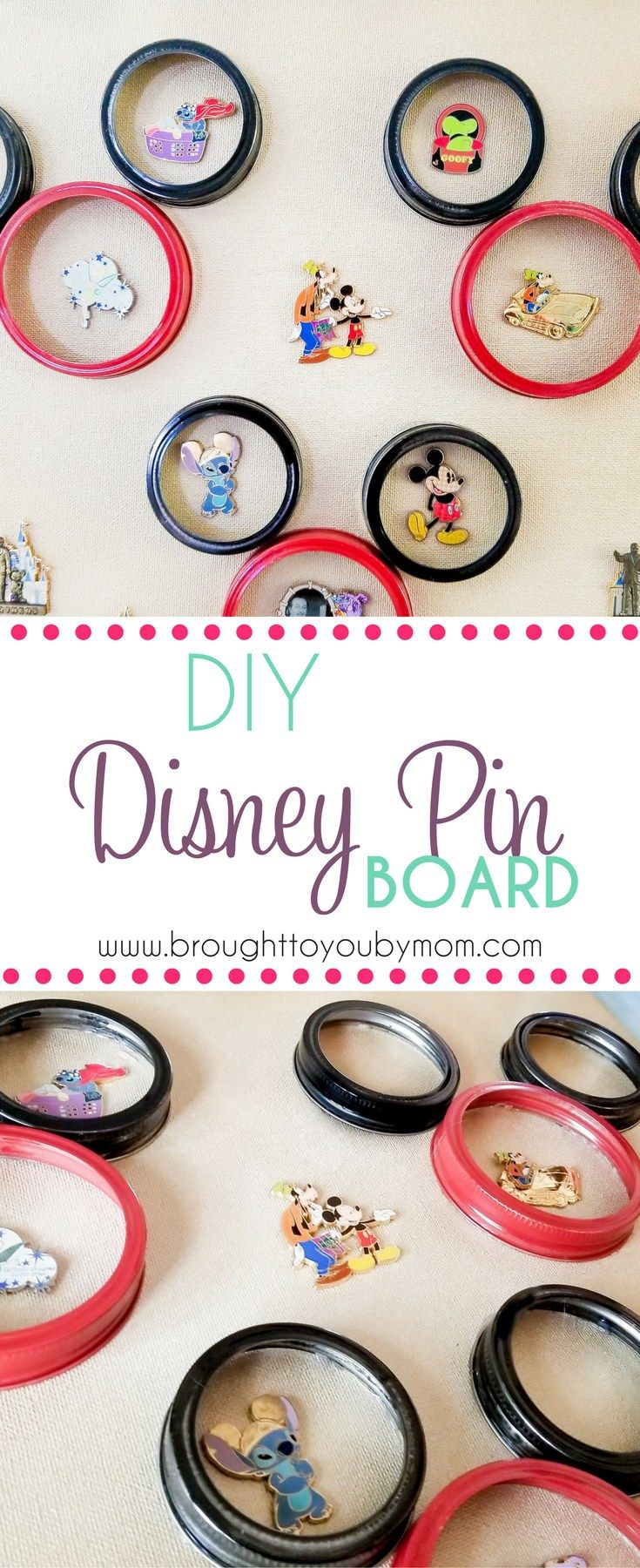 DIY Disney Pin Board - Disney Pin Display Idea | Disney pins, Pin ...
