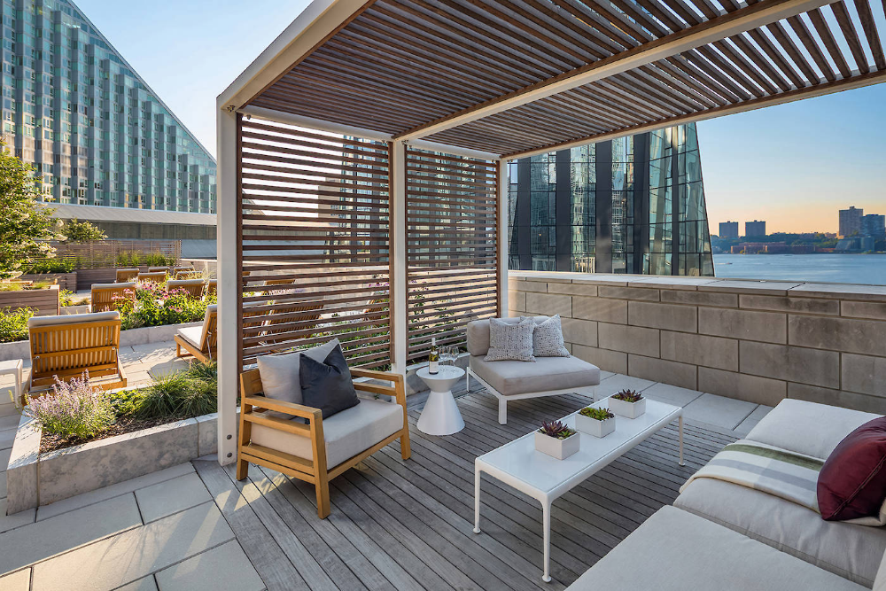 indoor cabanas in apartment buildings as an amenity