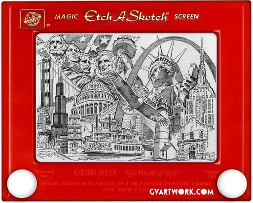 George Vlosich Etch-A-Sketch art. Wow...I can't even make a rectangle.