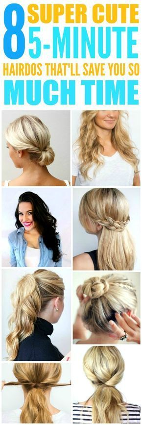 8 Beyond Easy 5 Minute Hairstyles For Those Crazy Busy Mornings