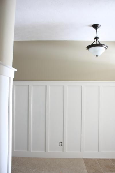 Wall Color Is Behr Nile Sand Beautiful And Calm Neutral Painted Wainscoting