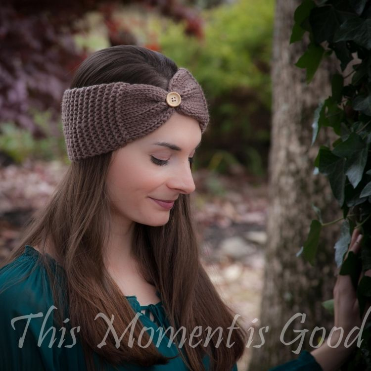 Loom Knit Headband, Ear warmer Pattern, Free.