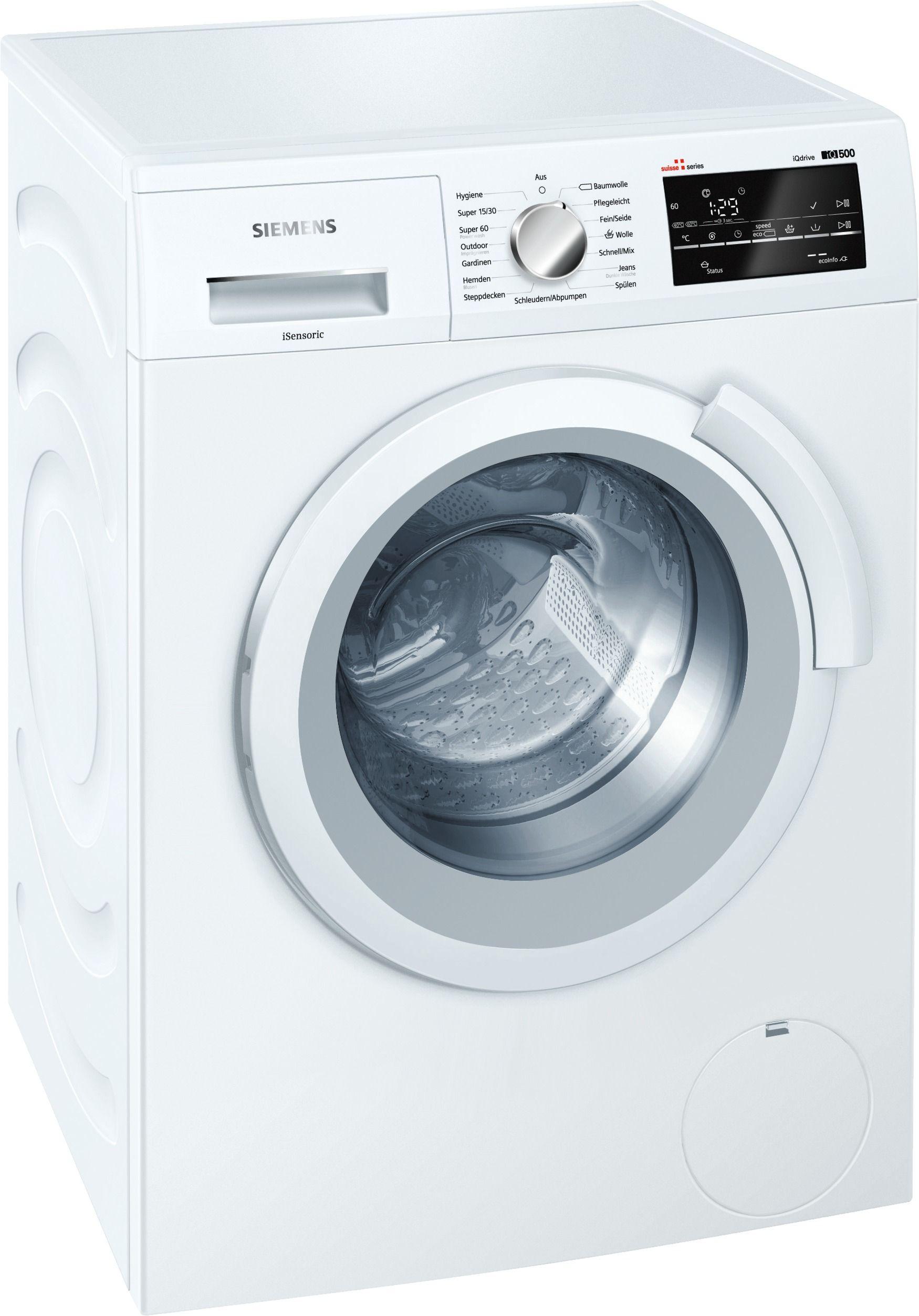 Kleider Waschmaschinen Siemens WS12T490CH Siemens