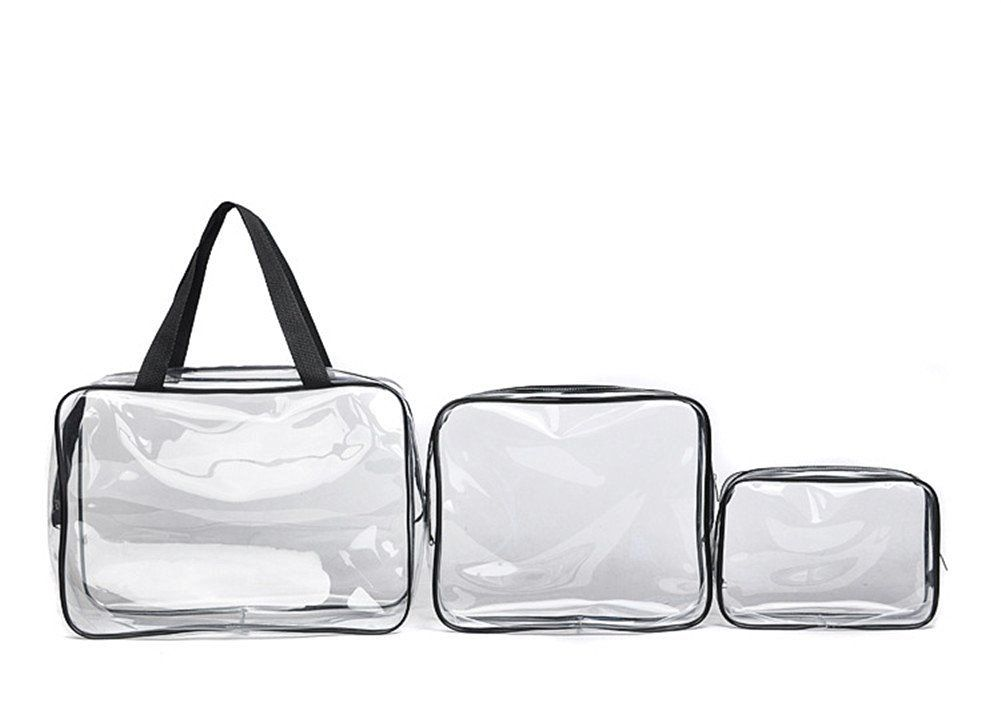 Youtumall 3 Size Included Clear Carry Bag Cosmetic Toiletry Pvc Travel Wash Makeup 1