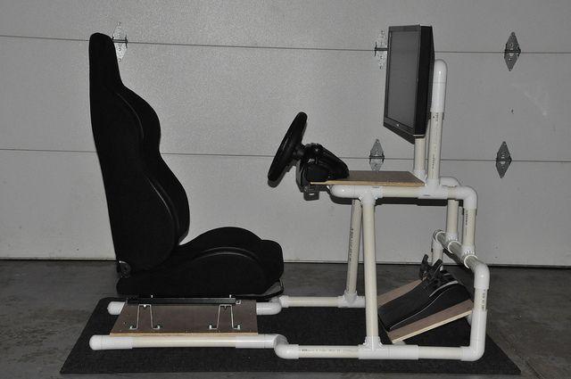 DIY: PVC Racing Simulator Cockpit | DIY/ home improvement