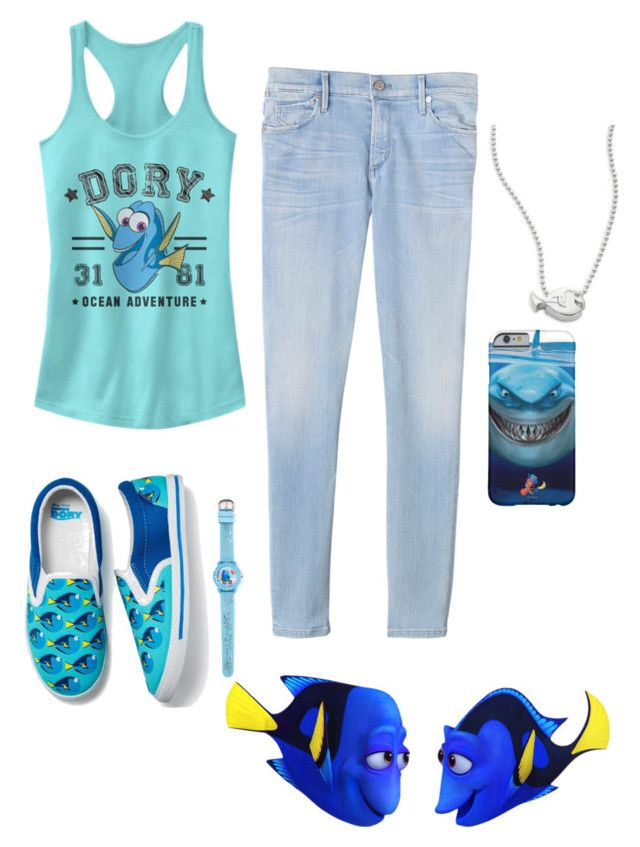 """Dory"" by noizlover ❤ liked on Polyvore featuring Fifth Sun, Rebecca Taylor, Avon and Alex Woo"