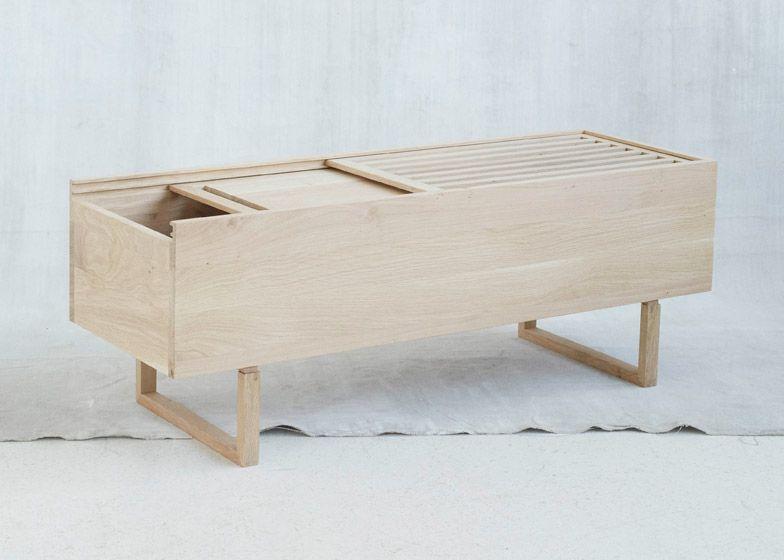 Awesome Kristina Dam Incorporates Plants Into Pale Oak Furniture