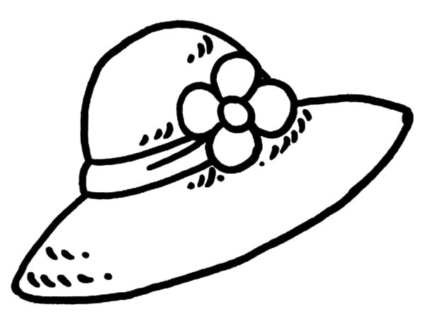 Flowered Girl Hat Coloring Pages Coloring Sun Free Printable Coloring Pages Coloring Pages For Kids Coloring Pages