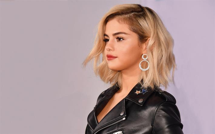 Download Wallpapers 4k Selena Gomez Blonde 2017
