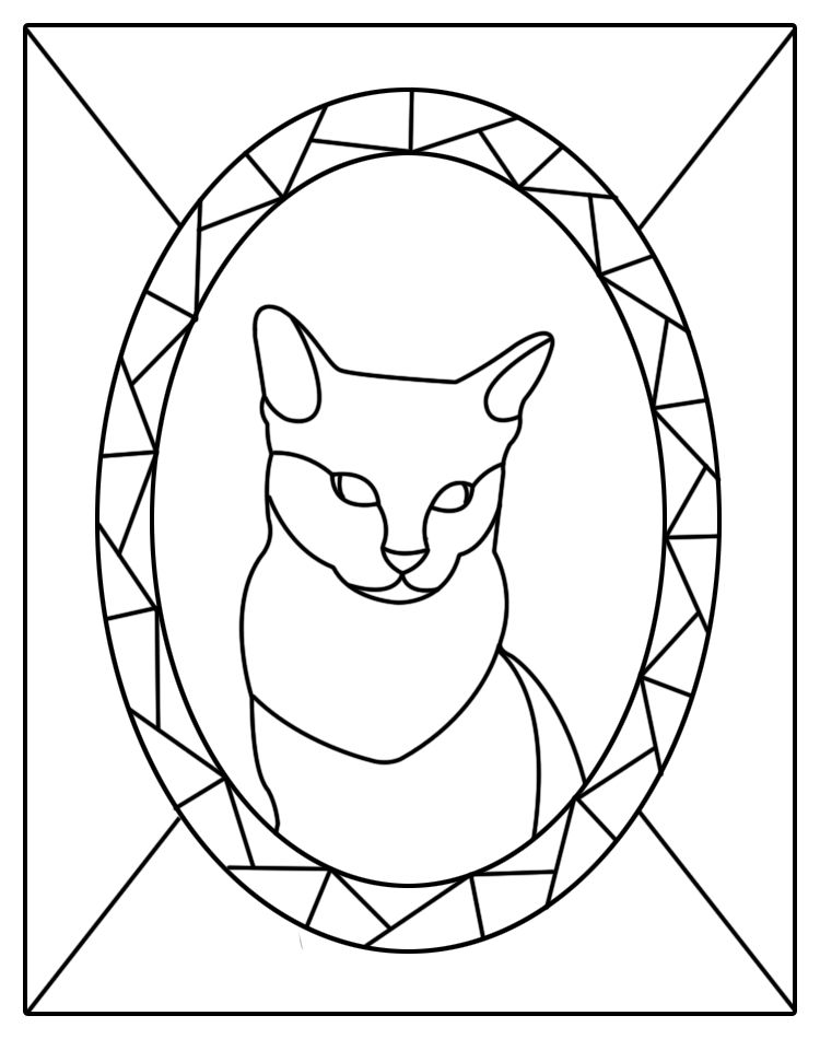 Free Kitten Patterns Stained Glass Patterns For Free Cat