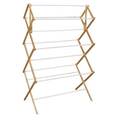 Clothes Drying Rack Target Household Essentials Mega Wood Dryer  Hang Earring Cards With S