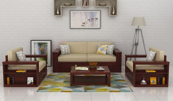 Buy wendel sofa set with storage mahogany finish online in india wooden street also best images furniture ideas rh pinterest
