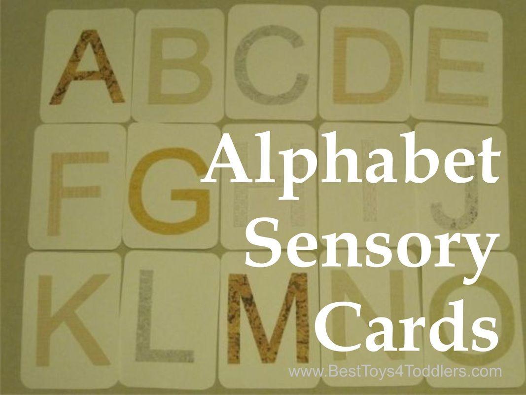 Homemade Sensory Alphabet Cards