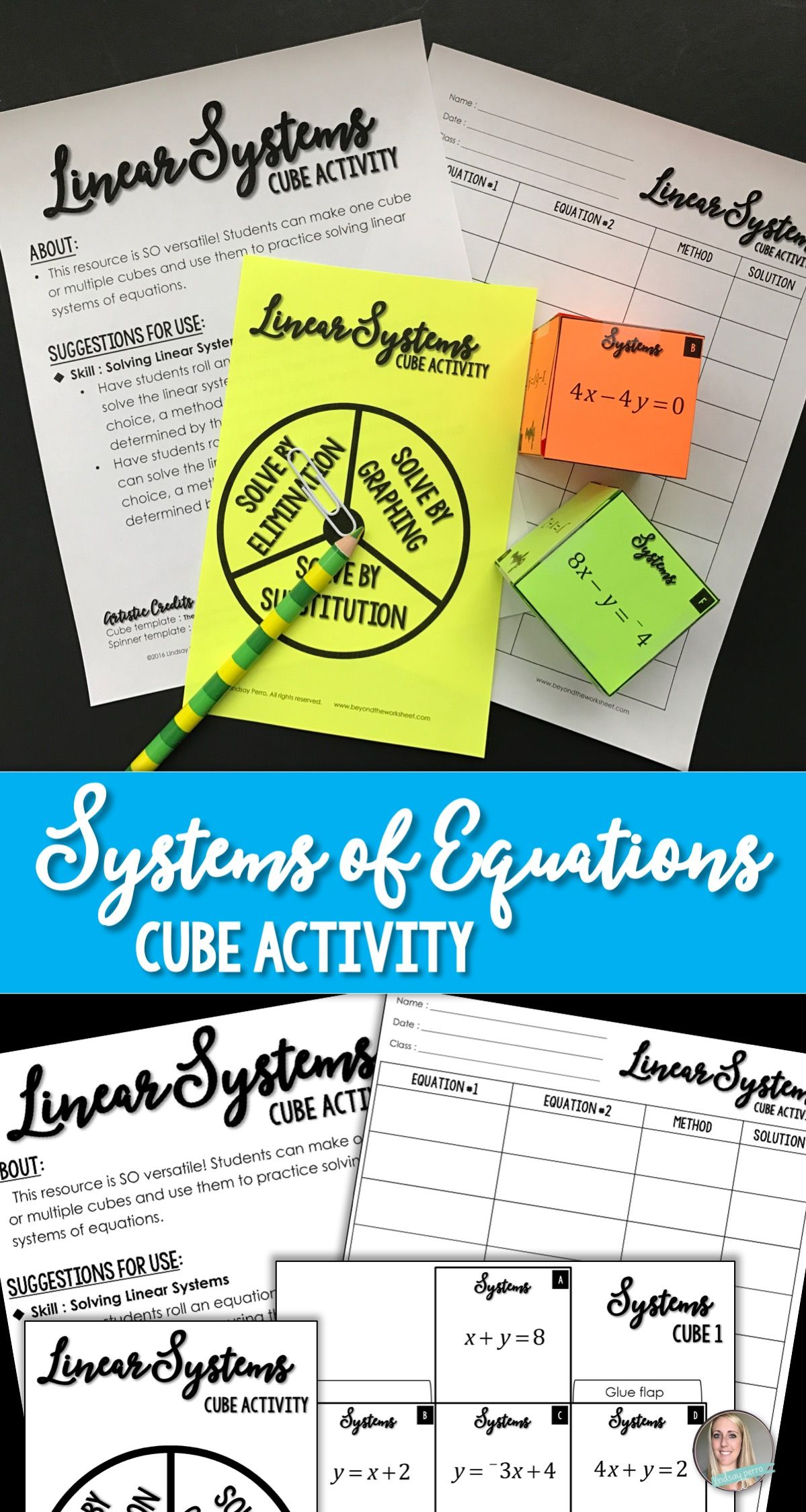 Systems Of Linear Equations Cube Activity