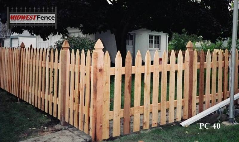 French Gothic Wood Picket Fences Wood Picket Fence Picket Fence Wooden Fence