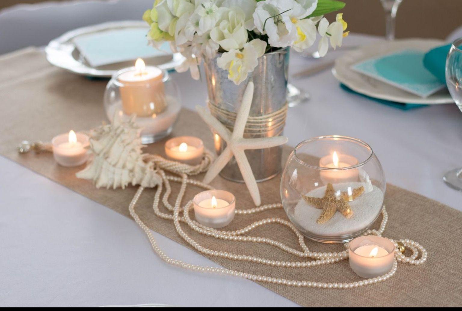 Nautical Centerpiece Wedding Sand Beach Table Decorations