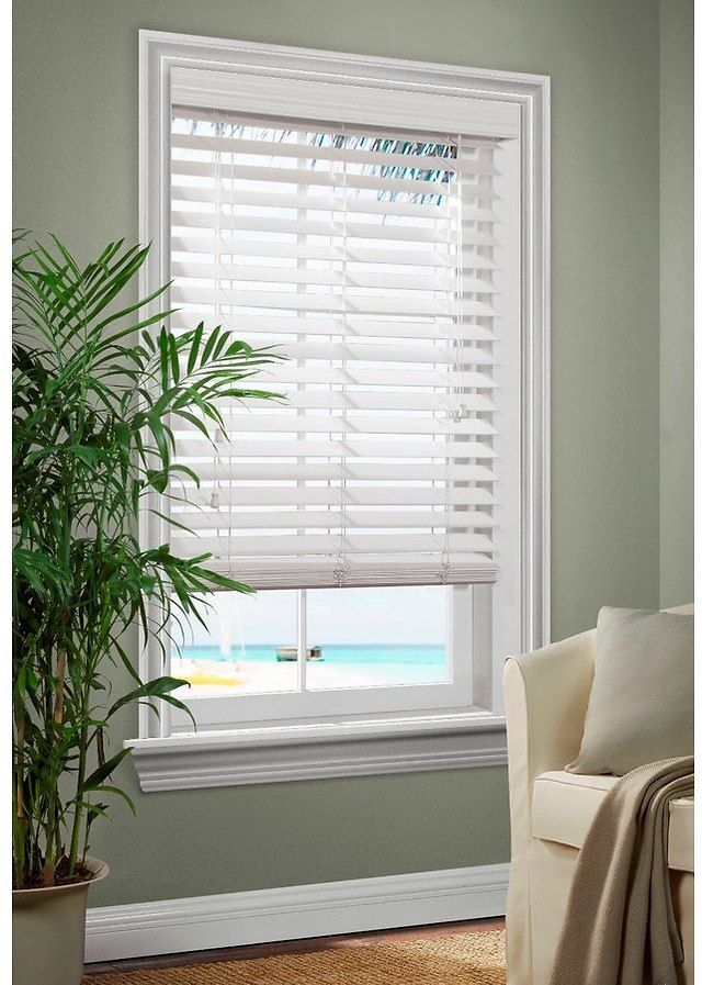 f5162cba6ad Allen Roth 2.5-in White Faux Wood Room Darkening Horizontal Blinds  13.97 ( lowes.com)