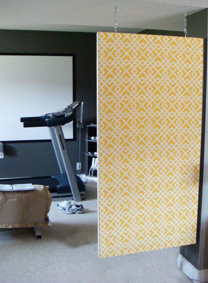DIY room divider with artist canvas | Hanging room dividers, Divider ...