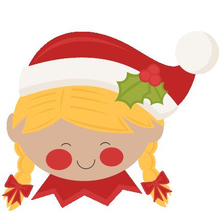 christmas elf girl svg scrapbook cut file cute clipart files for rh pinterest co uk