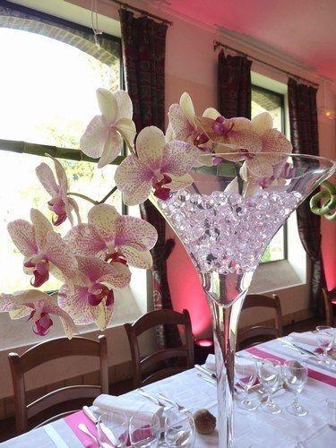 glass vase martini vase wedding centrepiece 22  Wedding decor  Dco mariage vase martini