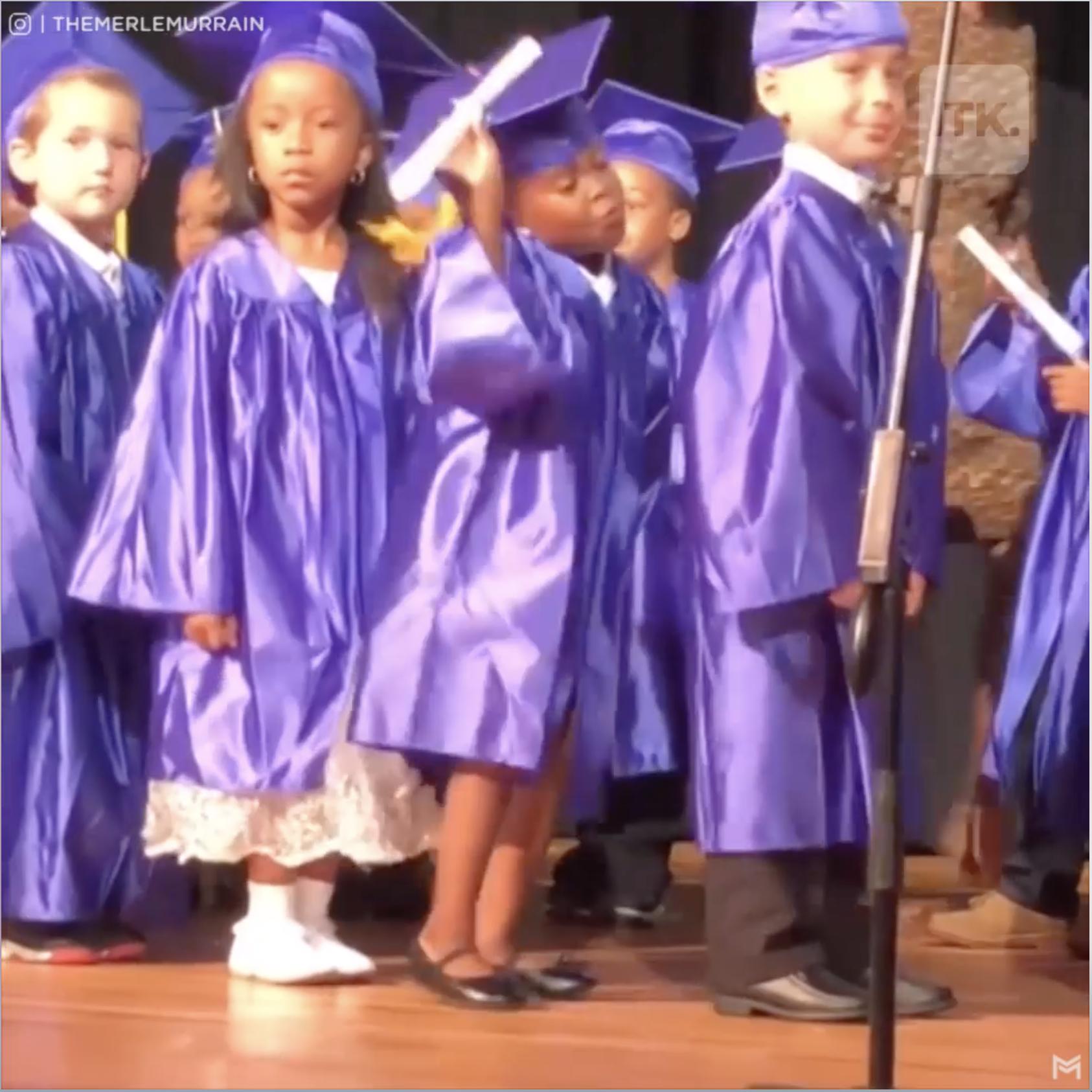 Mira los pasos de esta graduada de 5 años